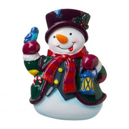 Personalized Snowman with Lantern Ornament