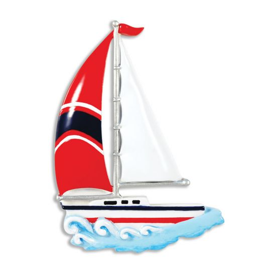 Personalized Sailboat Christmas Tree Ornament 2019 - Sailing hits Water  Wave Nautical Race Sport Hobby Coastal Drift Maritime Cutter Catboat Ketch