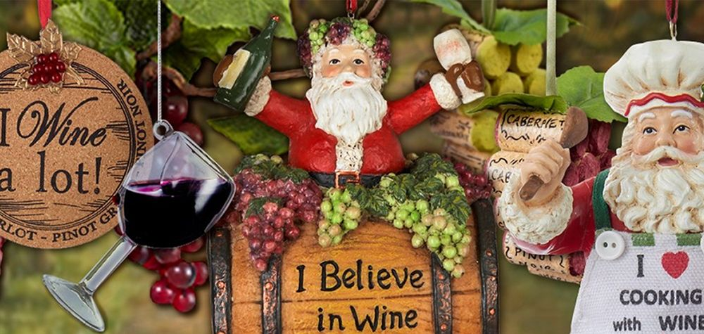 Wine Christmas Ornaments
